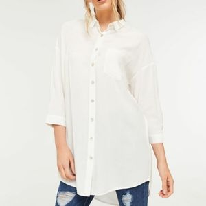 Ardene White Button Down Shirt